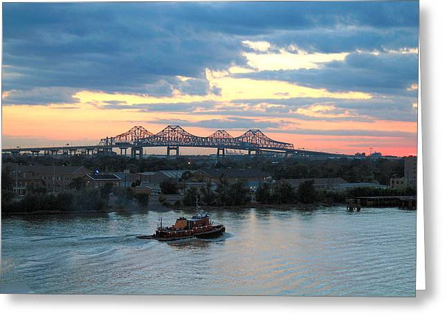 New Orleans Riverfront Greeting Card