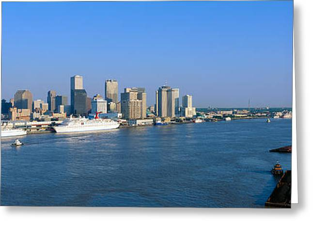 New Orleans Skyline, Sunrise, Louisiana Greeting Card by Panoramic Images