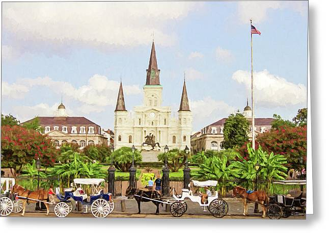 New Orleans St. Louis Cathedral Greeting Card by Scott Pellegrin