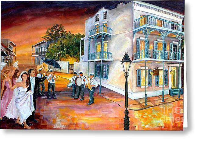 New Orleans Wedding Party Greeting Card by Diane Millsap