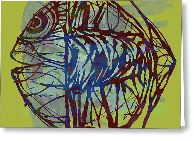 New Pop Art  -  Tropical Fish Poster Greeting Card by Kim Wang
