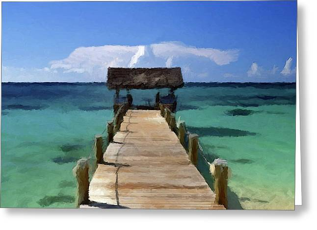 Greeting Card featuring the photograph New Providence Island Bahamas by David Dehner