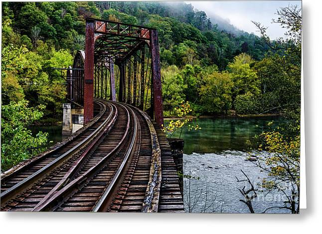 New River And Train Trestle Greeting Card