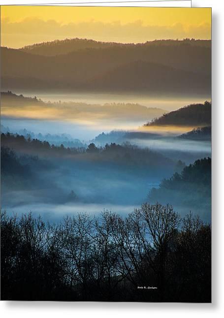 New River Fog Greeting Card