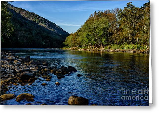 New River In Morning Light Greeting Card
