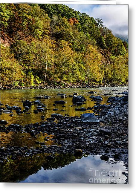 New River Morning Light Greeting Card