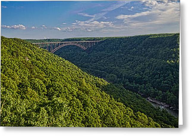 New River Panoramic Greeting Card