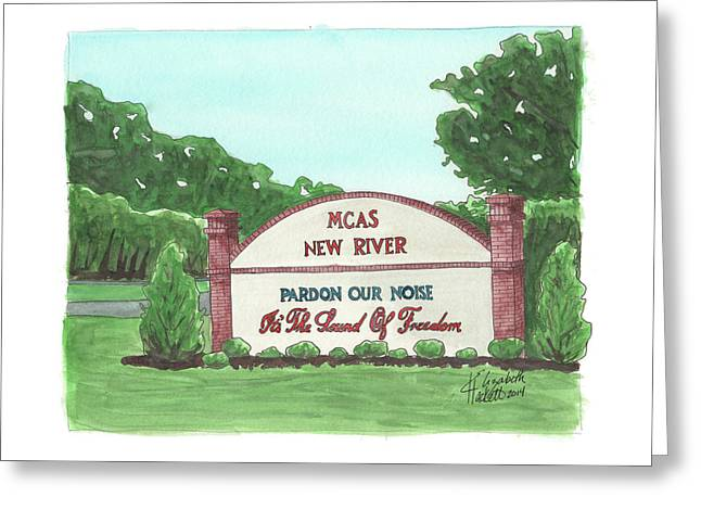 New River Welcome Greeting Card by Elizabeth Hackett