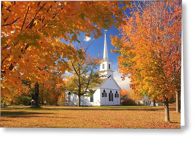 New Salem Common In Autumn Greeting Card