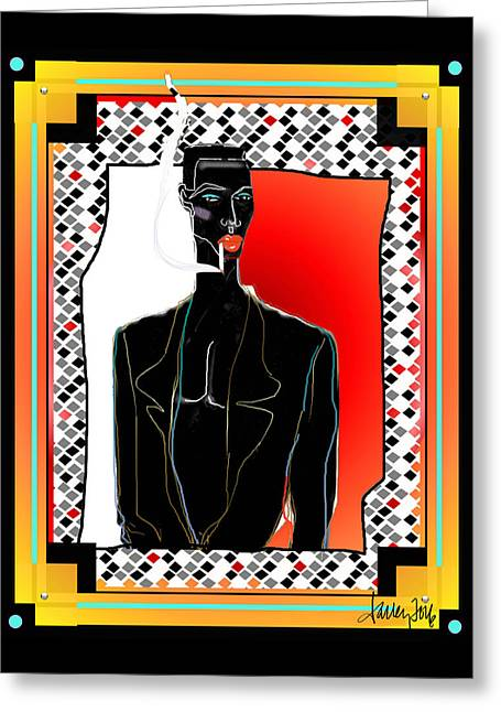 Amazing Grace Jones Greeting Card