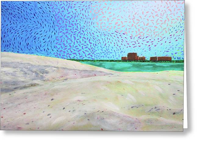 New Smyrna Beach As Seen From A Dune On Ponce Inlet Greeting Card