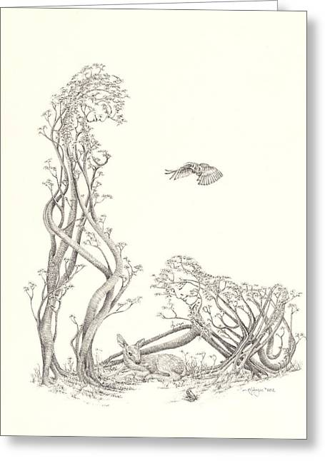 Gaia Drawings Greeting Cards - New Spring Greeting Card by Mark Johnson