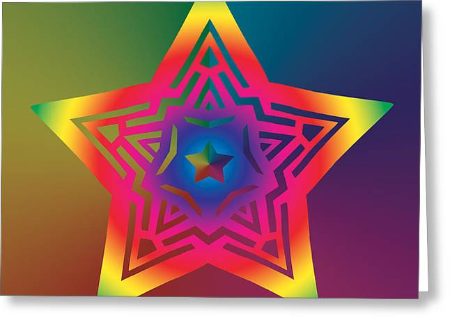 Chromatic Digital Greeting Cards - New Star 1a Greeting Card by Eric Edelman