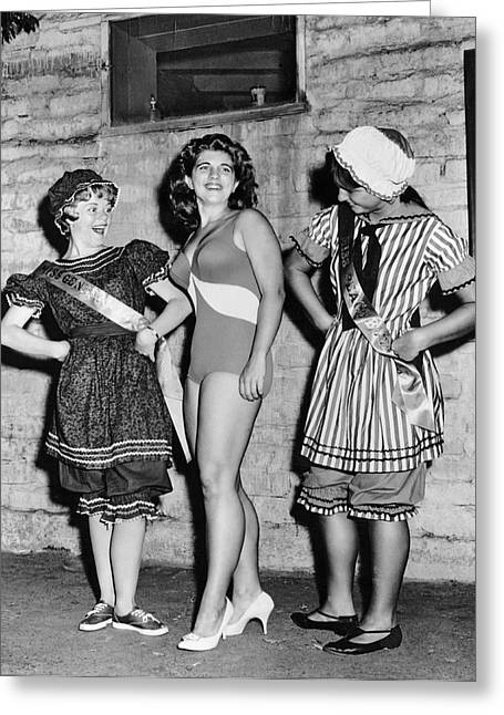 New Swimwear Meets Old Greeting Card by Underwood Archives