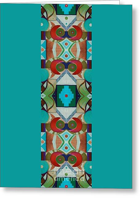 New Totem Number 1 Greeting Card by Helena Tiainen