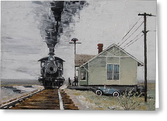 New Train Greeting Card by Steve Beaumont