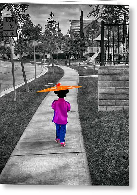Gia Walk To Playground Greeting Card