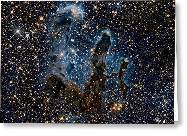 New View Of The Pillars Of Creation - Infrared Greeting Card by Nasa