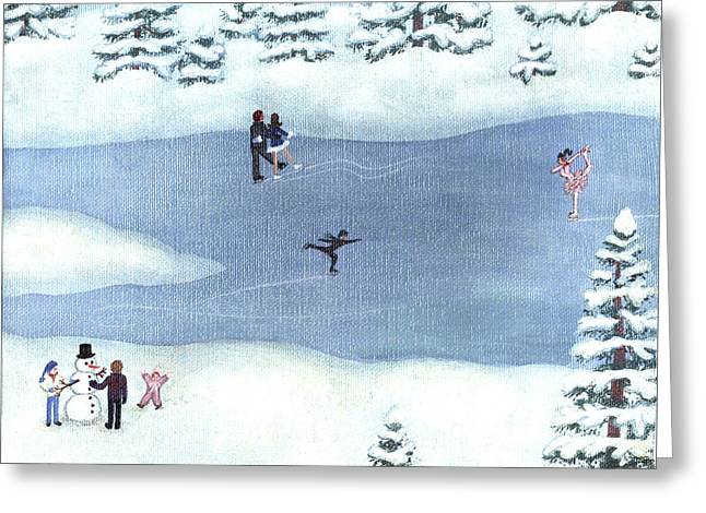 New Winter Six Greeting Card by Linda Mears