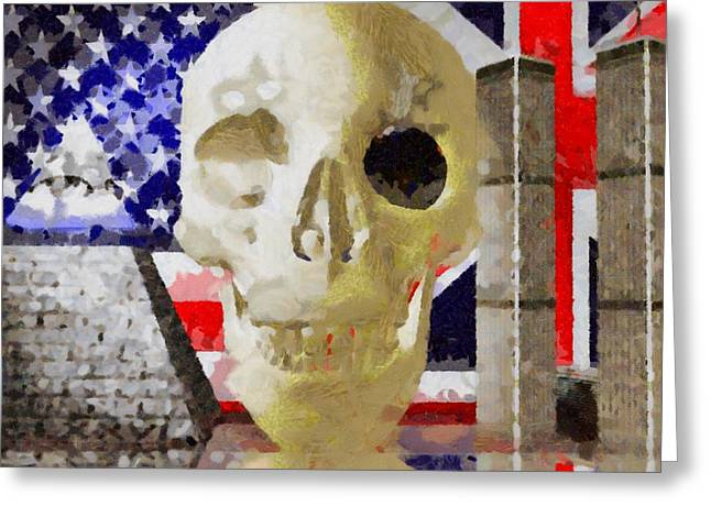 New World Order Greeting Card by Pierre Blanchard