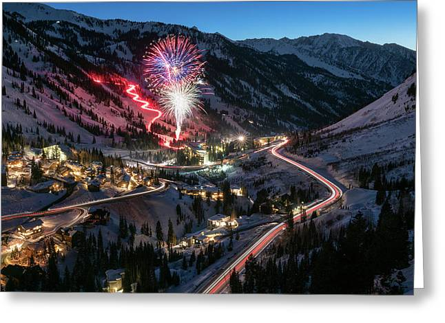New Year's Eve At Snowbird Greeting Card by James Udall