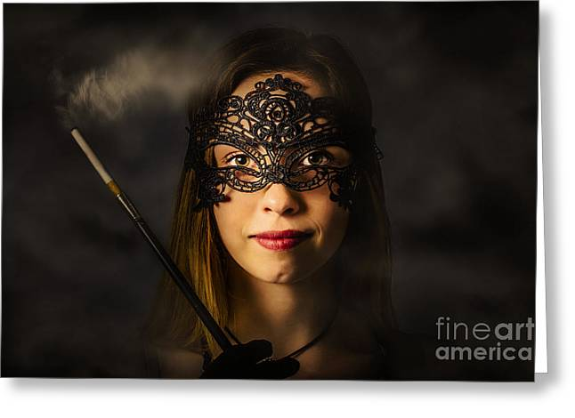 New Years Eve Mask Party Greeting Card