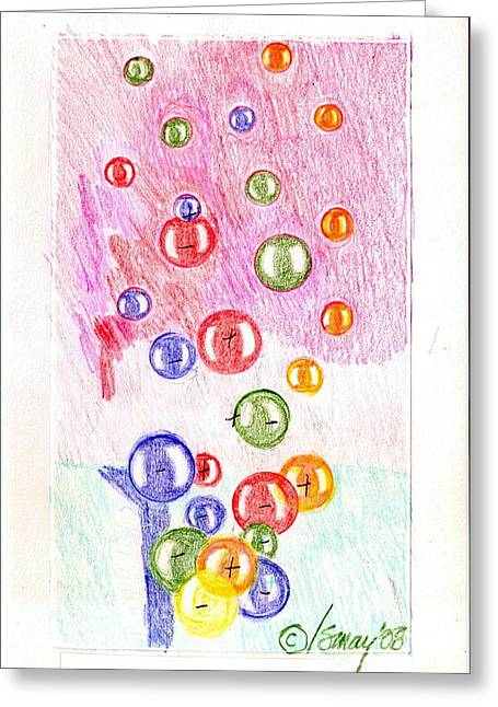 New Year's Spheres Greeting Card by Rod Ismay