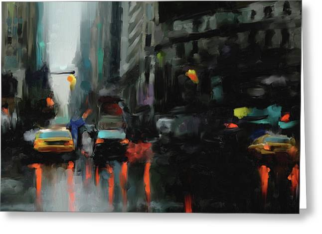 New York 1 560 3 Greeting Card by Mawra Tahreem