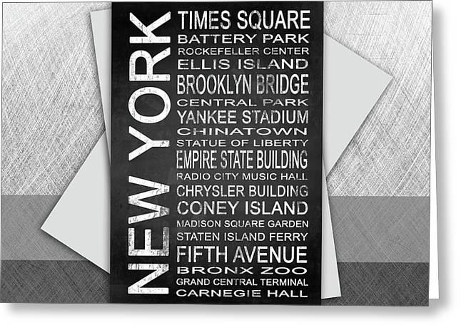 New York 1 Subway Greeting Card