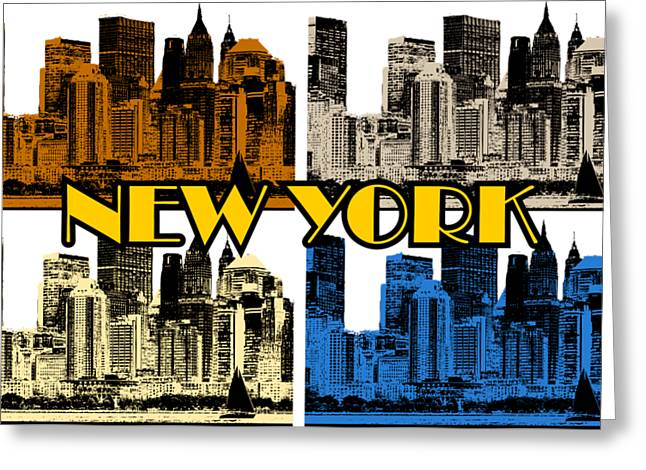 New York 4 Color Greeting Card