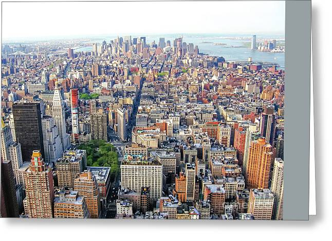 New York Aerial View Greeting Card