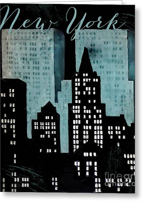 New York Art Deco Greeting Card by Mindy Sommers