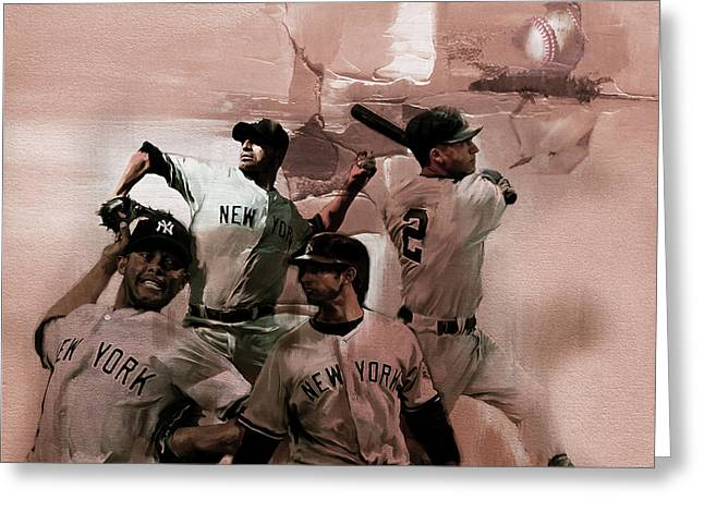 New York Baseball  Greeting Card by Gull G