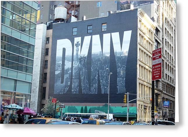 New York Billboard Greeting Card by Sun Skovy
