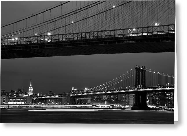 New York Bridges Greeting Card
