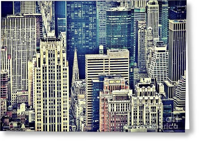 New York By Raphael Terra Greeting Card
