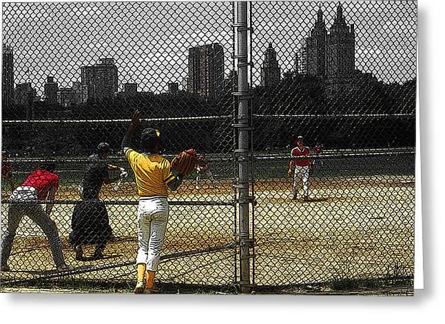 New York Central Park Baseball Greeting Card