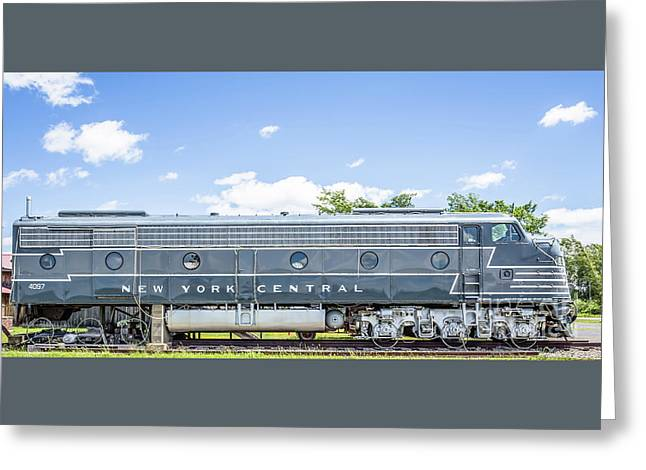 New York Central System Locomotive Vintage 3 Greeting Card by Edward Fielding