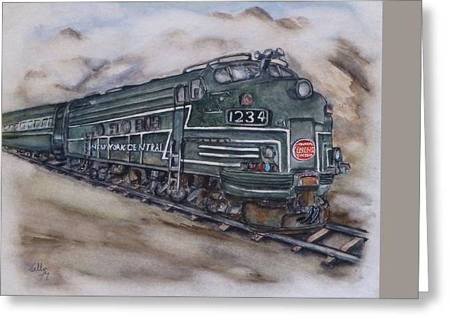 New York Central Train Greeting Card