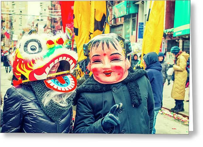 New York Chinatown Greeting Card