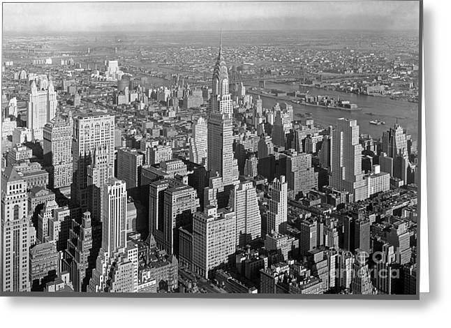New York Chrysler Building Early Twentieth Century Greeting Card by Pd