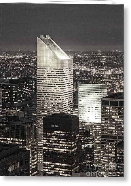 Greeting Card featuring the photograph New York Citigroup Center  by Juergen Held