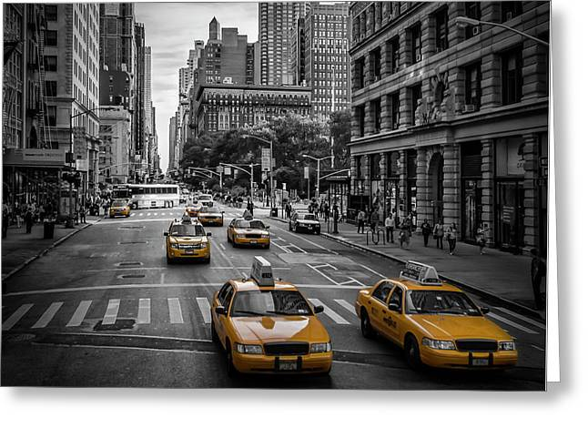 New York City 5th Avenue Traffic Greeting Card