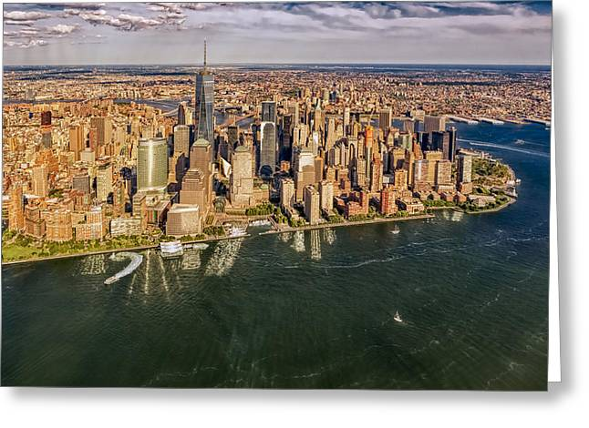 New York City Aerial View Greeting Card
