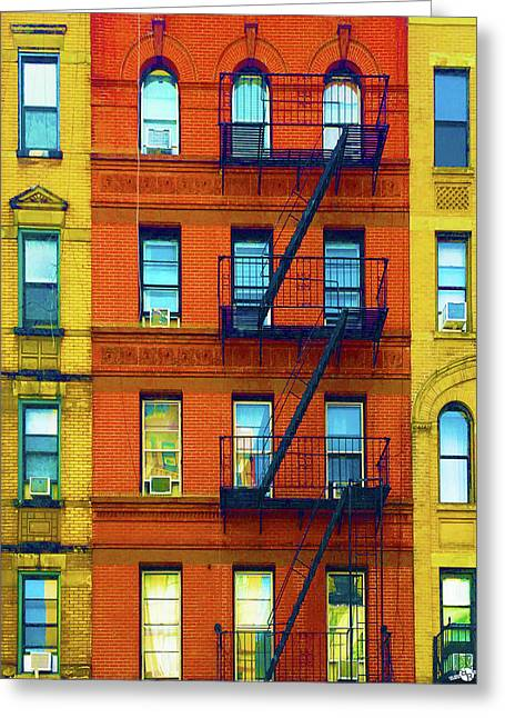 New York City Apartment Building 2 Greeting Card