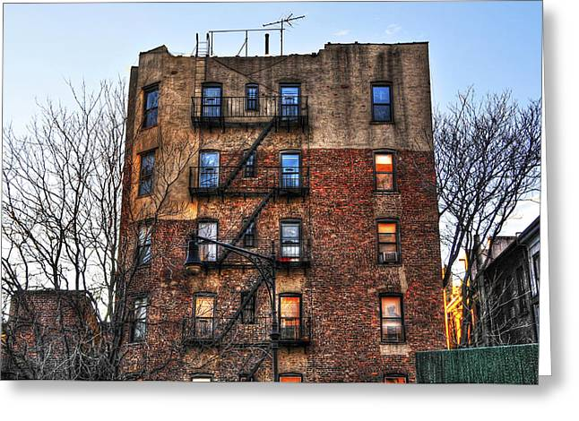 New York City Apartments Greeting Card by Randy Aveille