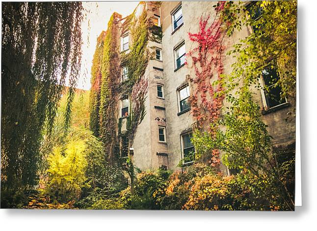 New York City Autumn East Village Greeting Card
