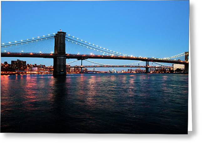 New York City Bridges Greeting Card