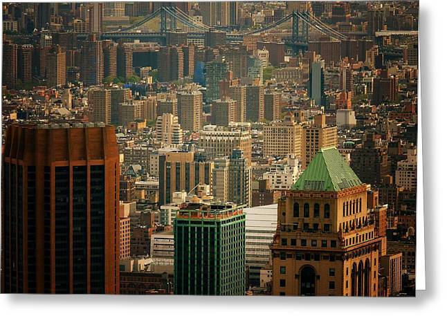 New York City Buildings And Skyline Greeting Card by Vivienne Gucwa