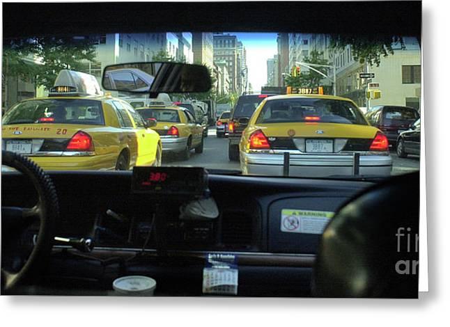 New York City Cab Ride Greeting Card